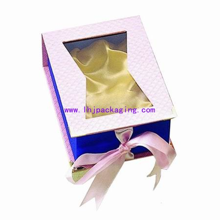 cosmetic box with pvc window  ,makeup box . lipstick box
