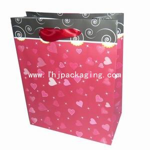 christmas paper bag, shopping bag, cosmetic paper bag