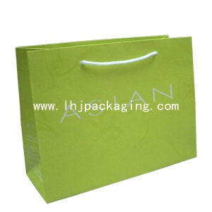 shopping paper bag with foil logo, luxury shopping bag